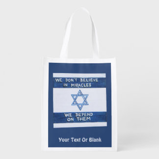 We Depend On Miracles Reusable Grocery Bag