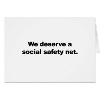 We deserve a social safety net card