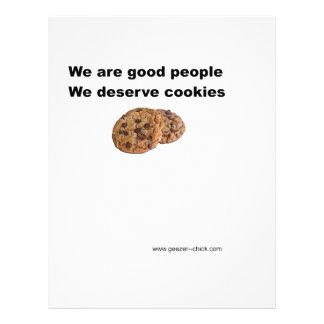 We Deserve Cookies Customized Letterhead