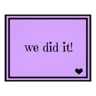 We Did It - Custom Background 4.25x5.5 Paper Invitation Card