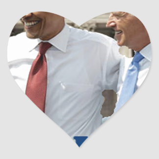 """We Did It!"" -- Obama Heart Sticker"