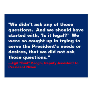 We Didn't Ask Those Questions Nixon Trump Resist Postcard