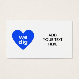 We Dig - Blue Business Card