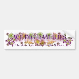 We Dig Daylilies Logo Bumper Stickers