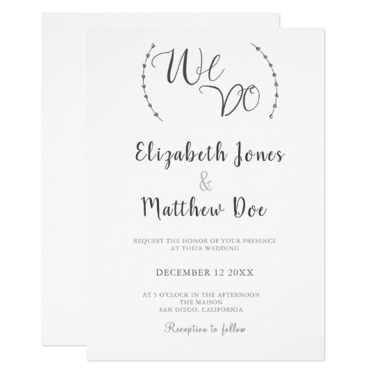 Gallery Minimalist Wedding Invitations: We Do Calligraphy Minimalist Wedding Invitation