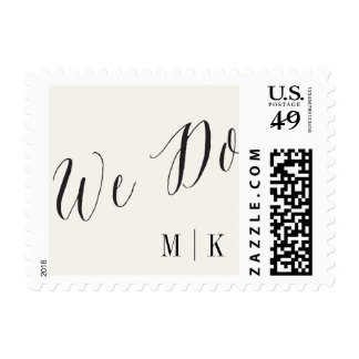 We Do Classic Script Calligraphy Wedding Stamps