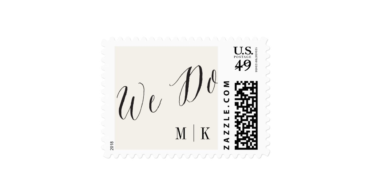 We Do Classic Script Calligraphy Wedding Stamps Zazzle
