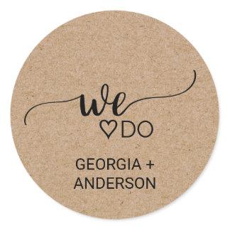 We Do Faux Kraft Calligraphy Wedding Envelope Seal