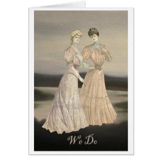 WE DO Gay Lesbian Women Wedding Invitation Invite Stationery Note Card