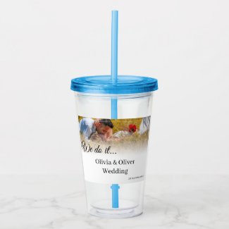 We do it - Kissing Couple on a Meadow Acrylic Tumbler