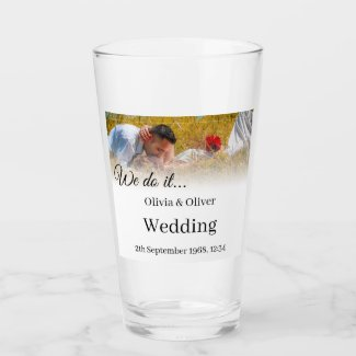 We do it - Kissing Couple on a Meadow Glass