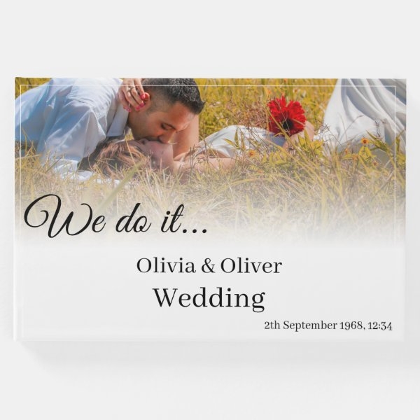 We do it - Kissing Couple on a Meadow Guest Book