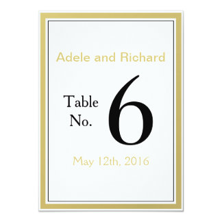 We Do Modern Chic Wedding Table Number