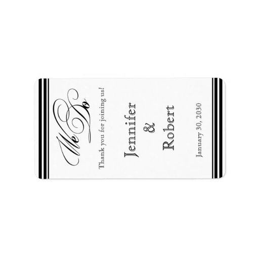 We Do Modern Frame Black and White Lip Balm Label Address Label