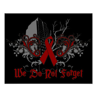 We Do Not Forget-AIDS Awareness Posters