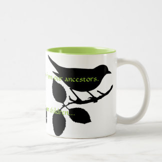 We do not inherit the earth from our ancestors Two-Tone coffee mug