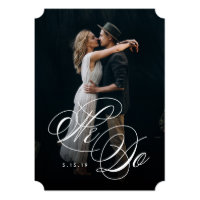 We Do Photo Wedding Invitation