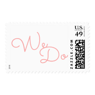 We Do | Pink Modern Typography Wedding Postage