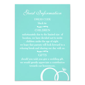"""We Do Wedding Guest Information Cards 4.5"""" X 6.25"""" Invitation Card"""