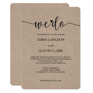 We Do Wedding Invitation - Kraft