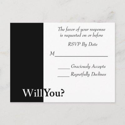 We Do Wedding RSVP Card Postcards by allweddingproducts