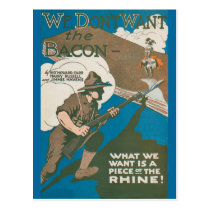 We Don't Want the Bacon Postcard