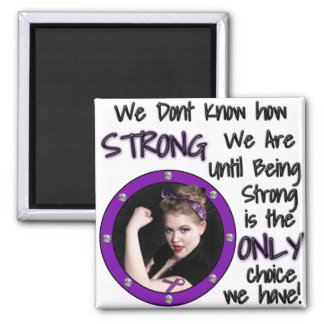 We Dont Know how STRONG... 2 Inch Square Magnet
