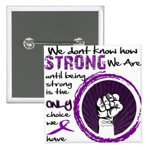 We don't know how STRONG we are... 2 Inch Square Button