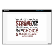 "we dont know how we are strong until being strong 15"" laptop decal"
