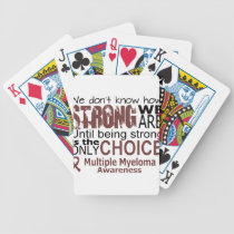 we dont know how we are strong until being strong bicycle playing cards