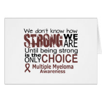 we dont know how we are strong until being strong card