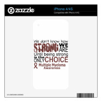 we dont know how we are strong until being strong decal for iPhone 4