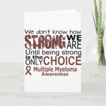 we dont know how we are strong until being strong thank you card