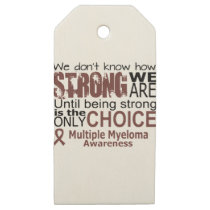 we dont know how we are strong until being strong wooden gift tags