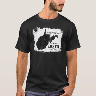 We don't Like You Either-Black T-Shirt