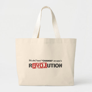 We Don't Need Change... Canvas Bags