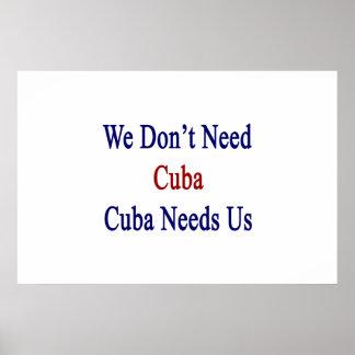 We Don't Need Cuba Cuba Needs Us Poster