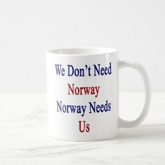 We Don't Need Norway Norway Needs Us Coffee Mug