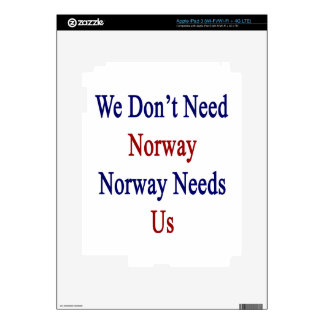 We Don't Need Norway Norway Needs Us Decal For iPad 3
