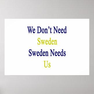 We Don't Need Sweden Sweden Needs Us Poster