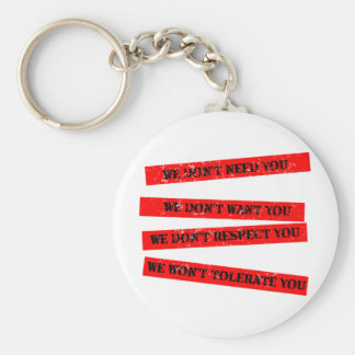 We Don't Need You Keychain