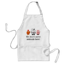 We Don't Serve Animals Cute Vegetarian Vegan Apron