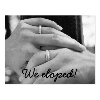 We eloped Announcement Post Cards