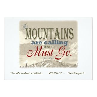 We Eloped in Mountains Vintage; Muir-Mtns Called Card
