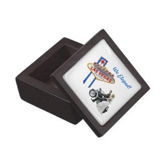 """We Eloped"" Las Vegas! Gift Box Premium Jewelry Box"