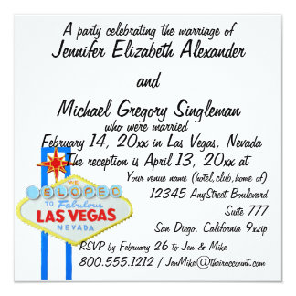 We Eloped Married Announcement Reception