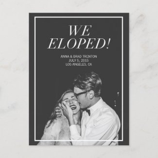 We Eloped | Modern Photo Wedding Announcement