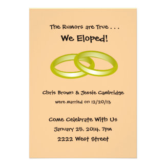 600+ We Eloped Invitations, We Eloped Announcements & Invites Zazzle