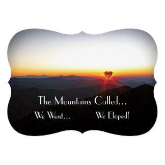 We Eloped / Romantic Mountains Invite