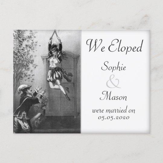 We Eloped Wedding Announcement Vintage Theme